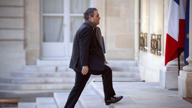 Xavier Bertrand à l'Elysée, le 18 janvier 2012. (LIONEL BONAVENTURE / AFP)