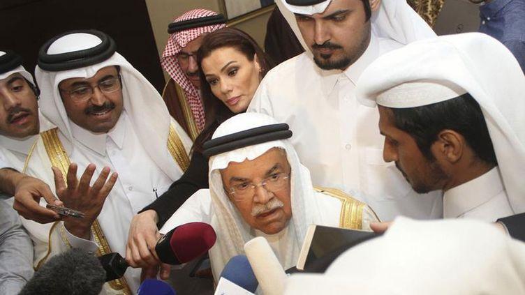 (Ali Al-Nouaïmi ministre du pétrole saoudien à la sortie de la réunion à Doha © Reuters/Naseem Mohammed Bny Huthil)