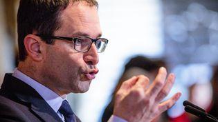 Benoît Hamon, le candidat socialiste à la présidentielle, à Châtenoy (Loiret), le 13 février 2017. (MAXPPP)