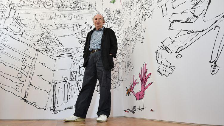 L'illustrateur Quentin Blake à la Maison de l'Illustration à Londres en 2014  (Ben STANSALL / AFP)