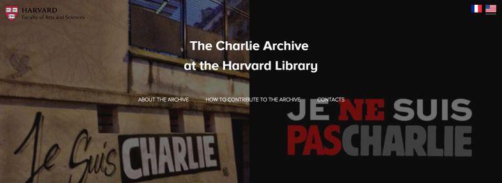 """Le site du projet """"Charlie"""" de la bibliothèque d'Harvard. (THE CHARLIE ARCHIVE)"""
