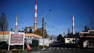 La raffinerie Total de Grandpuits (Seine-et-Marne) le 6 janvier 2020 (MARTIN BUREAU / AFP)