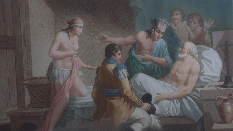 Détail d'un panneau décoratif. Musée du Nouveau Monde. (France 3 Poitou-Charentes / J. Bouchon)