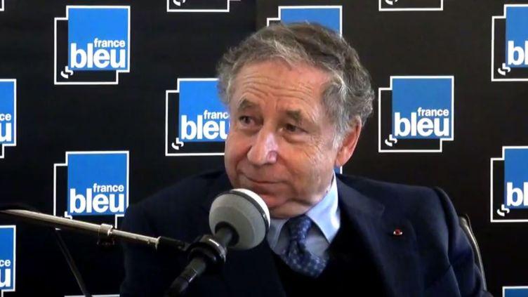 Jean Todt, président de la fédération internationale de l'Automobile, le dimanche 15 janvier, dans l'émission Stade Bleu. (CAPTURE D'ÉCRAN)