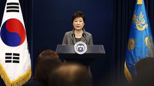 La présidente sud-coréenne s'adresse au pays depuis la Maison bleue, mardi 29 novembre 2016. (AFP)