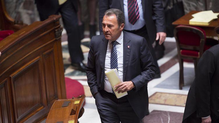 """""""Il est hors de question"""" que la police municipale de Villeneuve-Loubet """"contrôle et mette des amendes"""", justifie le maire de la ville des Alpes-Maritimes, Lionnel Luca. (CHRISTOPHE MORIN / MAXPPP)"""