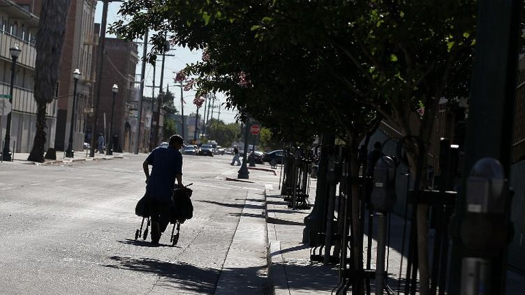 Dans les rues de Stockton (Etats-Unis), le 27 juin 2012. (JUSTIN SULLIVAN / GETTY IMAGES NORTH AMERICA)