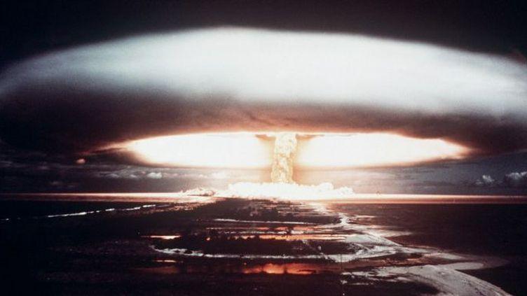 Explosion nucléaire dans l'atoll de Mururoa en 1971 (AFP PHOTO)