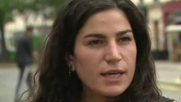 Marie Laguerre, victime d'un harceleur de rue et qui a décidé de porter plainte (Capture d'écran Franceinfo)