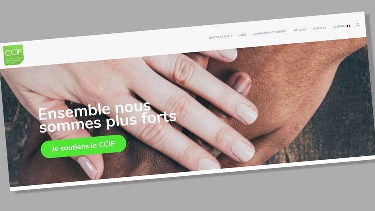 Le site internet duCollectif contre l'islamophobie en France (CCIF). (CAPTURE D'ÉCRAN)