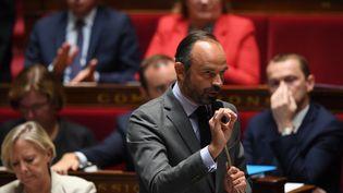 Le Premier ministre Edouard Philippe, le 2 octobre 2018, à l'Assemblée nationale à Paris. (CHRISTOPHE ARCHAMBAULT / AFP)