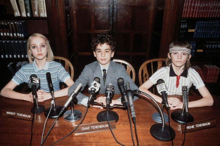"""Les trois enfants exceptionnels de """"La famille Tenenbaum"""", sorti en 2001, c'est le troisième film de Wes Anderson (TOUCHSTONE PICTURES / AMERICAN E / COLLECTION CHRISTOPHEL VIA AFP)"""