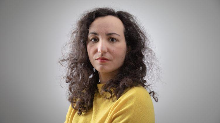 L'écrivaine et journaliste Florence Porcel, le 25 février 2021. (PHILIPPE DE POULPIQUET / MAXPPP)