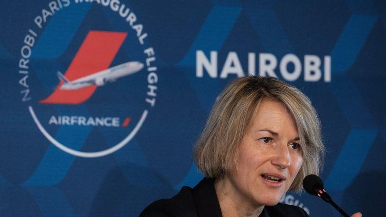 Anne Rigail, à Nairobi (Kenya), le 26 mars 2018. (YASUYOSHI CHIBA / AFP)