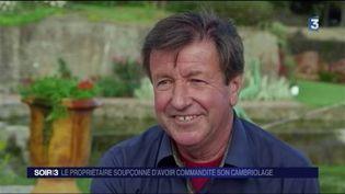 Daniel Malgouyres, le propriétaire du jardin mis en examen. (FRANCE 3)