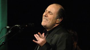 Michel Delpech en 2005 au Bataclan à Paris  (STEPHANE DE SAKUTIN / AFP)