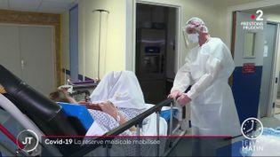 Cédric Compagno entame sa deuxième journée à l'hôpital de Grasse. (France 2)