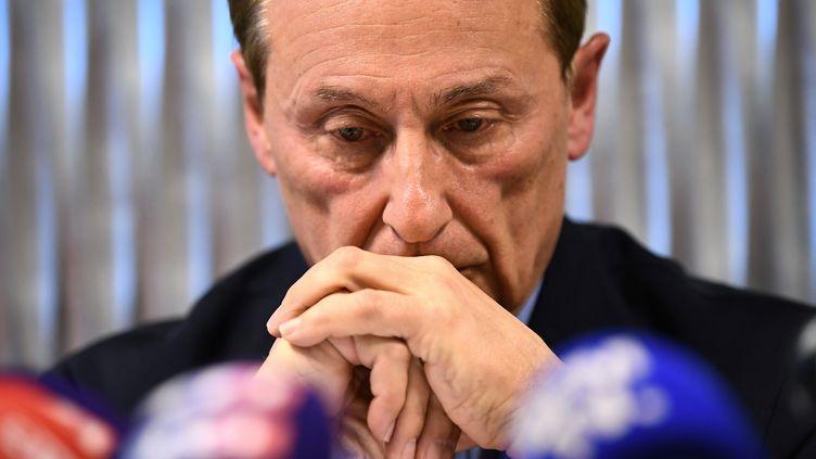 Le président de la Fédération française des sports de glace Didier Gailhaguet, le 5 février 2020 à Paris. (FRANCK FIFE / AFP)