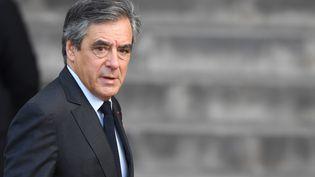 L'ancien Premier ministre François Fillon lors des obsèques de Jacques Chirac, le 26 septembre 2019 à Paris. (ERIC FEFERBERG / AFP)