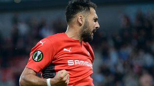 Gaetan Laborde a ouvert le score face à Bordeaux dimanche 26 septembre. (JEAN-FRANCOIS MONIER / AFP)