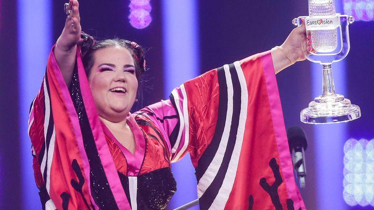 La chanteuse israélienne Netta Barzilai, gagnante de l'Eurovision 2018 (Joerg Carstensen/dpa/picture-alliance/Newscom/MaxPPP)