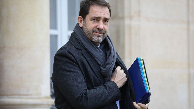 Le ministre de l'Intérieur, Christophe Castaner, à l'Elysée, le 30 janvier 2019.  (LUDOVIC MARIN / AFP)