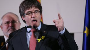 Le leader indépendantiste catalan, Carles Puigdemont, le 21 décembre 2017 à Bruxelles. (DURSUN AYDEMIR / ANADOLU AGENCY / AFP)