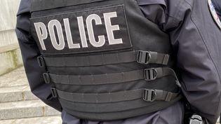 Un policier de dos (image d'illustration). (RICHARD VIVION / FRANCE-BLEU PAYS DE SAVOIE)