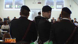 Au procès de la 'Ndrangheta à Reggio Emilia, Italie. (FRANCE 3 / FRANCETV INFO)