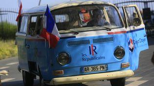 La caravane des Jeunes Républicains à Nice (Alpes-Maritimes), le 19 juillet 2015. (MAXPPP)