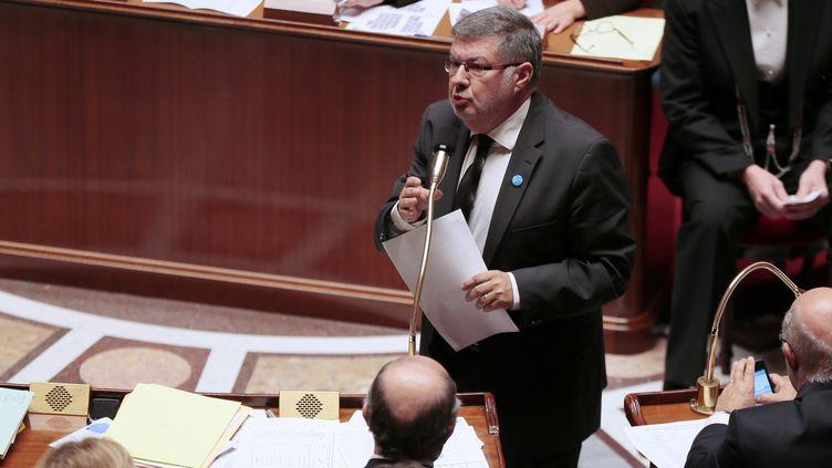 Alain Vidalies, ministre des Relations avec le Parlement, le 10 octobre 2012, à l'Assemblée nationale, lors des questions au gouvernement. (JACQUES DEMARTHON / AFP)