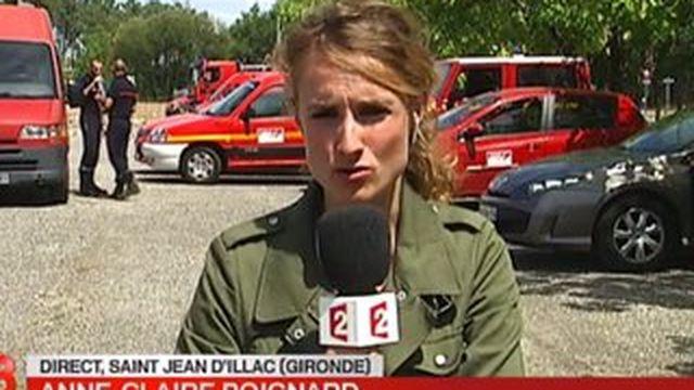 Incendie en Gironde : le vent complique le travail des pompiers
