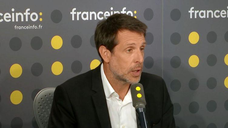 François Pélissier,directeur des sports du groupe TF1, sur franceinfo vendredi 20 octobre. (FRANCEINFO / RADIOFRANCE)