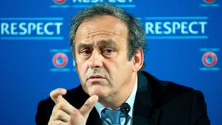 Le président de l'UEFA, Michel Platini, le 22 février 2014 à Nice. (FEDERICO GAMBARINI / DPA)