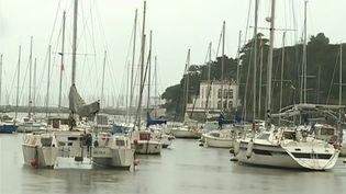 Le port de Pornic (Loire-Atlantique) attend la tempête Gabriel (CAPTURE D'ÉCRAN FRANCE 3)