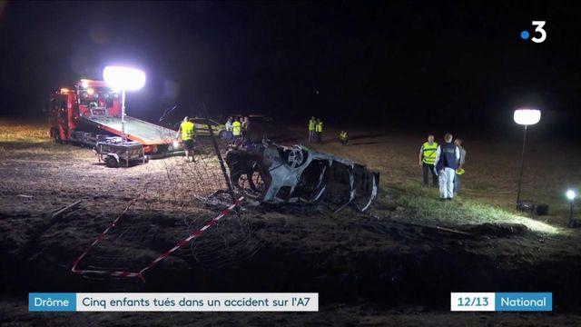Drôme : cinq enfants tués dans un accident de la route sur l'A7