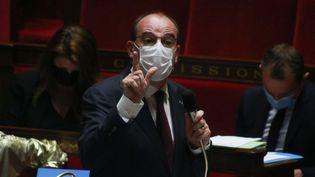 Le Premier ministre, Jean Castex, à l'Assemblée nationale, à Paris, le 13 juillet 2021. (QUENTIN DE GROEVE / HANS LUCAS / AFP)