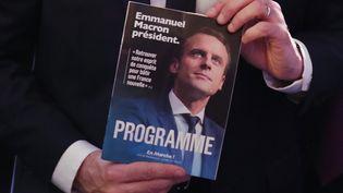 Emmanuel Macron présente son programme, le 2 mars 2017 à Paris (CHRISTIAN HARTMANN / REUTERS / X90079)