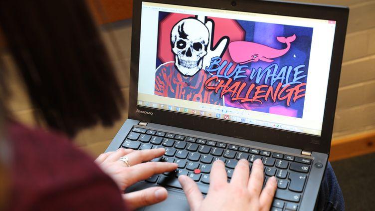 Le jeu Blue Whale Challenge, apparu sur le Facebook russe Vkontake pousse les adolescents au suicide. (THIERRY GACHON / MAXPPP)