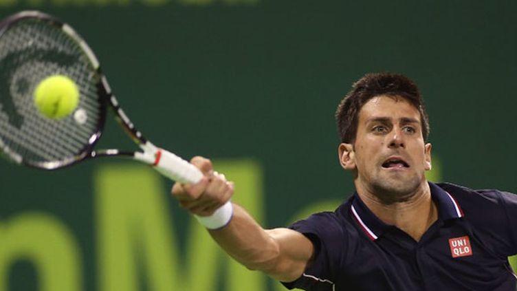 Novak Djokovic n'a rien pu faire face aux services d'Ivo Karlovic (KARIM JAAFAR / AL-WATAN DOHA)