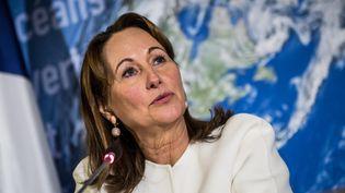 Ségolène Royal lors d'une conférence de presse sur l'entrée en vigueur de l'accord de Paris, le 6 octobre 2016 (CHRISTOPHE PETIT TESSON / MAXPPP)