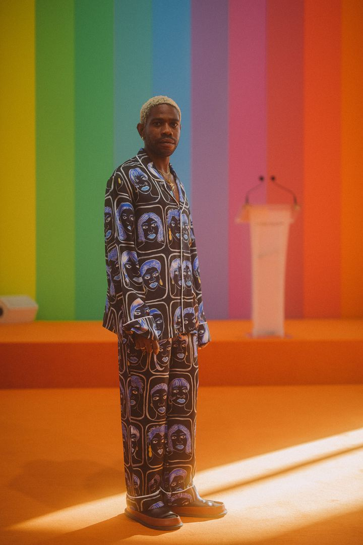 Le Nigerian Kenneth Izedonmwen est le créateurde la marque Kenneth Ize, en 2019 (Virgile Guinard)
