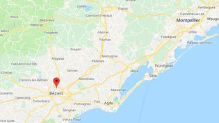 La commune de Béziers, dans l'Hérault (CAPTURE D'ÉCRAN GOOGLE MAPS)