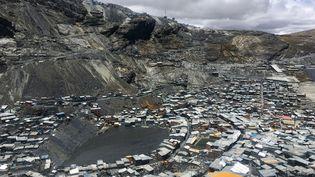 La Rinconada, ville située la plus haut au monde à 5 300 mètres d'altitude au Pérou. (AXEL PITTET / INSERM / AFP)