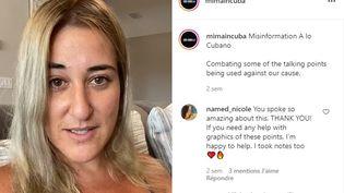 Marissa Daniela dans une de ses vidéos sur sa page Instagram (CAPTURE D'ECRAN)