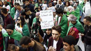Des étudiants manifestent à Alger, le 26 mars 2019, contre le maintien au pouvoir du président Abdelaziz Bouteflika. (AFP)
