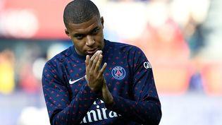 Le footballeurKylian Mbappe, le 20 octobre 2018. (FRANCK FIFE/AFP)