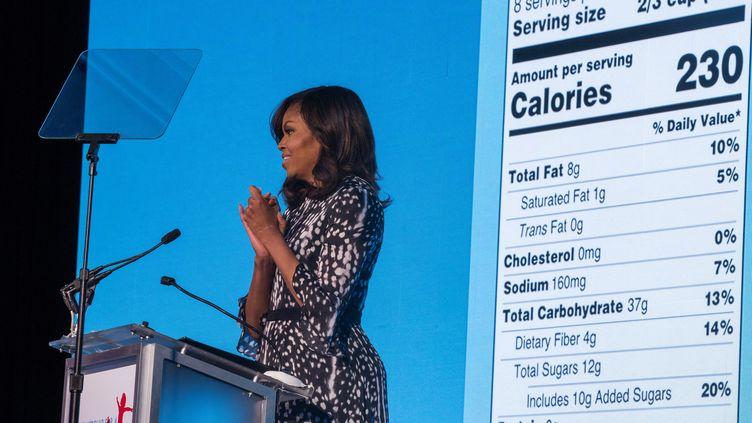 Michelle Obama, la femme de Barack Obama, président des États-Unis, lors d'un sommet sur la santé à Washington, le 20 mai 2016. (JIM LO SCALZO / EPA )