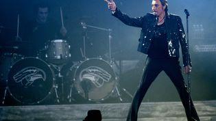 Johnny Hallyday, le 29 mai 2009, à Saint-Denis (Seine-Saint-Denis). (PHILIPPE WOJAZER / REUTERS)