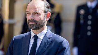 Le nouveau Premier ministre Edouard Philippe lors de la passassionde pouvoir à Matignon le 15 mai. (CHRISTOPHE MORIN / MAXPPP)